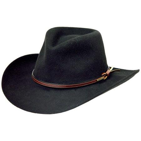 Stetson Bozeman Black Wool Crushable Cowboy Western Hat - (Bozeman Stores)