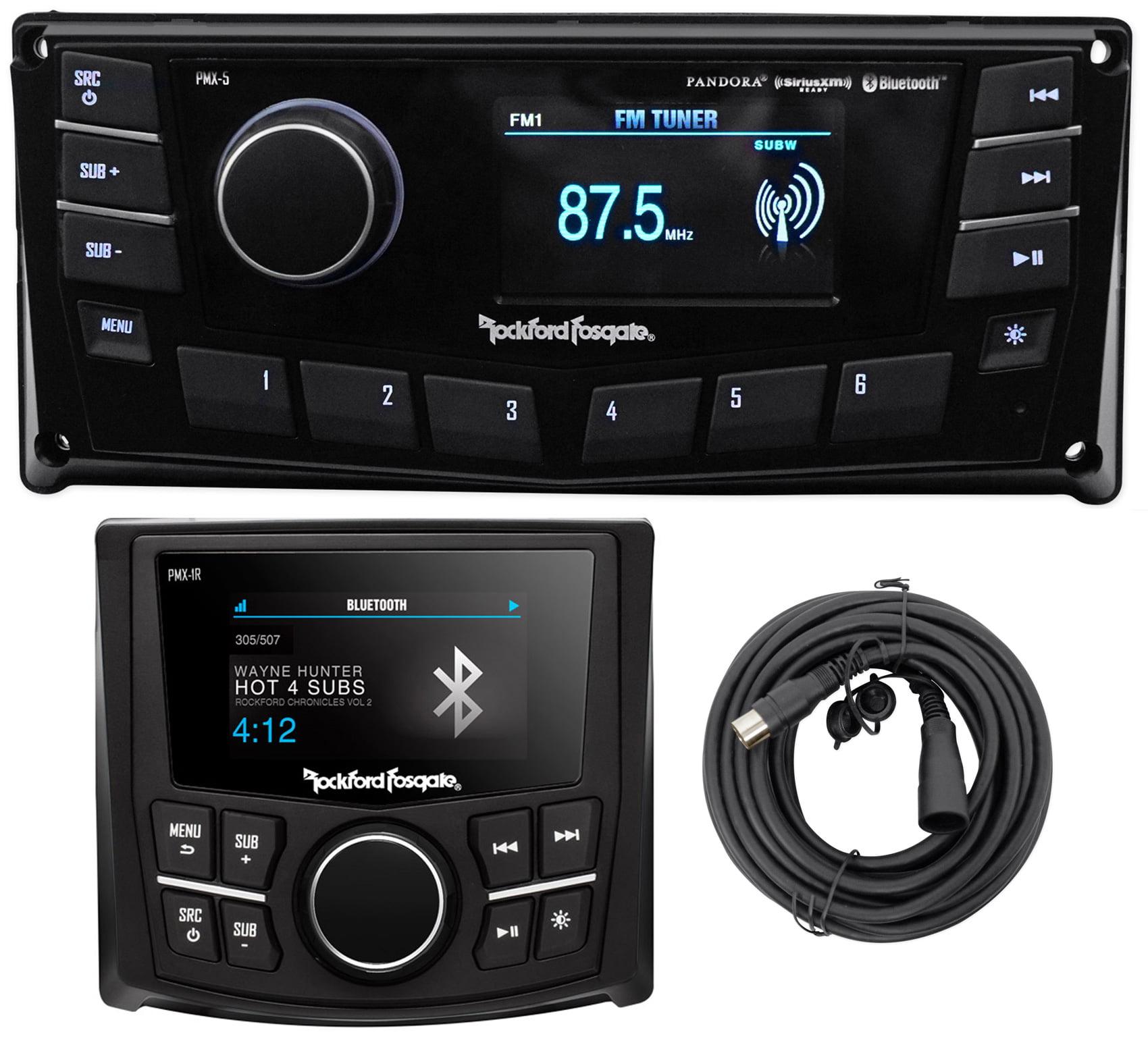 """Rockford Fosgate PMX-5 2.7"""" Marine Digital Media Receiver w/Bluetooth+Remote"""