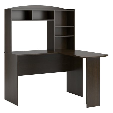 Altra Furniture Sutton L-Shaped Desk with (Shaker Corner Hutch)