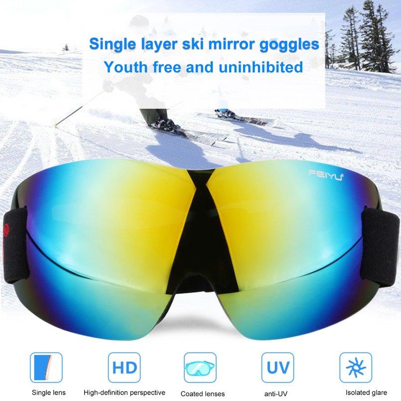 Feiyu 066 Windproof Sunglasses Ski Goggles Glasses Outdoor Sports Eyewear Bike Riding Skating Skiing Equipment Single... by