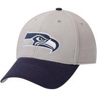Men's Fan Favorite Gray/Navy Seattle Seahawks Two-Tone Adjustable Hat - OSFA