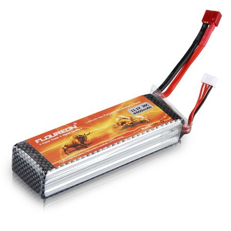 Floureon 11.1V 4500mAh 3S 30C Lipo Battery Pack for RC Airplane Helicopter RC Car Boat ()