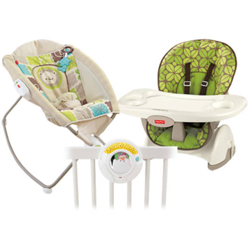 Fisher-Price Rainforest Friends High Chair, Sleeper, & Projection Soother Value Set