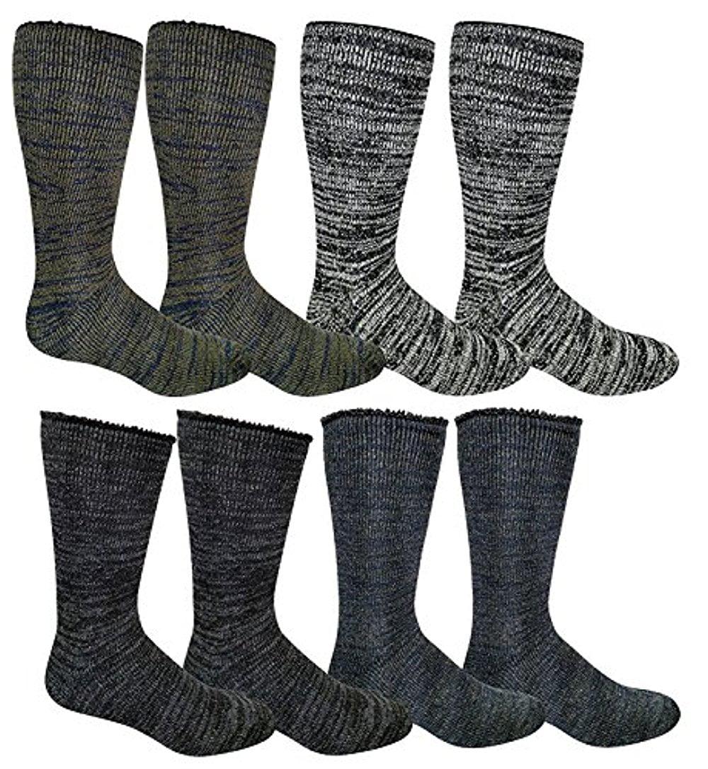 4 Pair Pack excell Mens Heat Retainer Winter Thermal Socks, Boot Socks by Thermal Socks