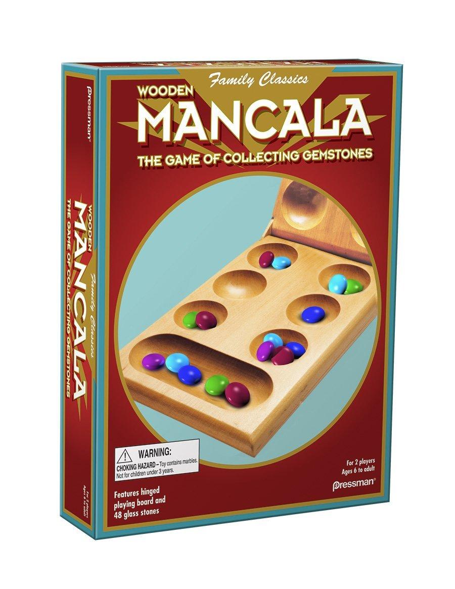 Mancala Real Wood Folding Set, USA, Brand Pressman Toy by