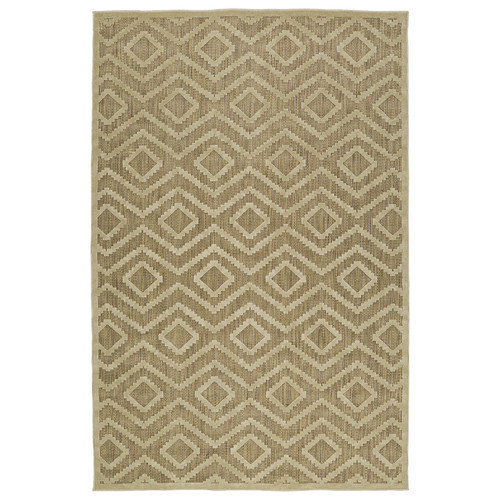 Kaleen Five Seasons Khaki Indoor/Outdoor Area Rug