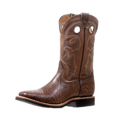 9fc76932d2a Boulet Western Boots Men Pull Holes Stockman Shoulder Taurus Noce 5262