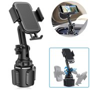 Universal Car Cup Holder Phone Mount Cell Phone Holder Adjustable Cup Holder Cradle Car Mount with Flexible Long Neck for iPhone Samsung