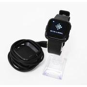 Refurbished Fitbit Versa FB504 HR Smartwatch Black Aluminium Large