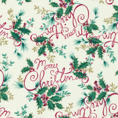 Clearance Sale~Holiday Editions~ Merry Christmas~Cotton Fabric by Fabri-quilt - Walmart.com