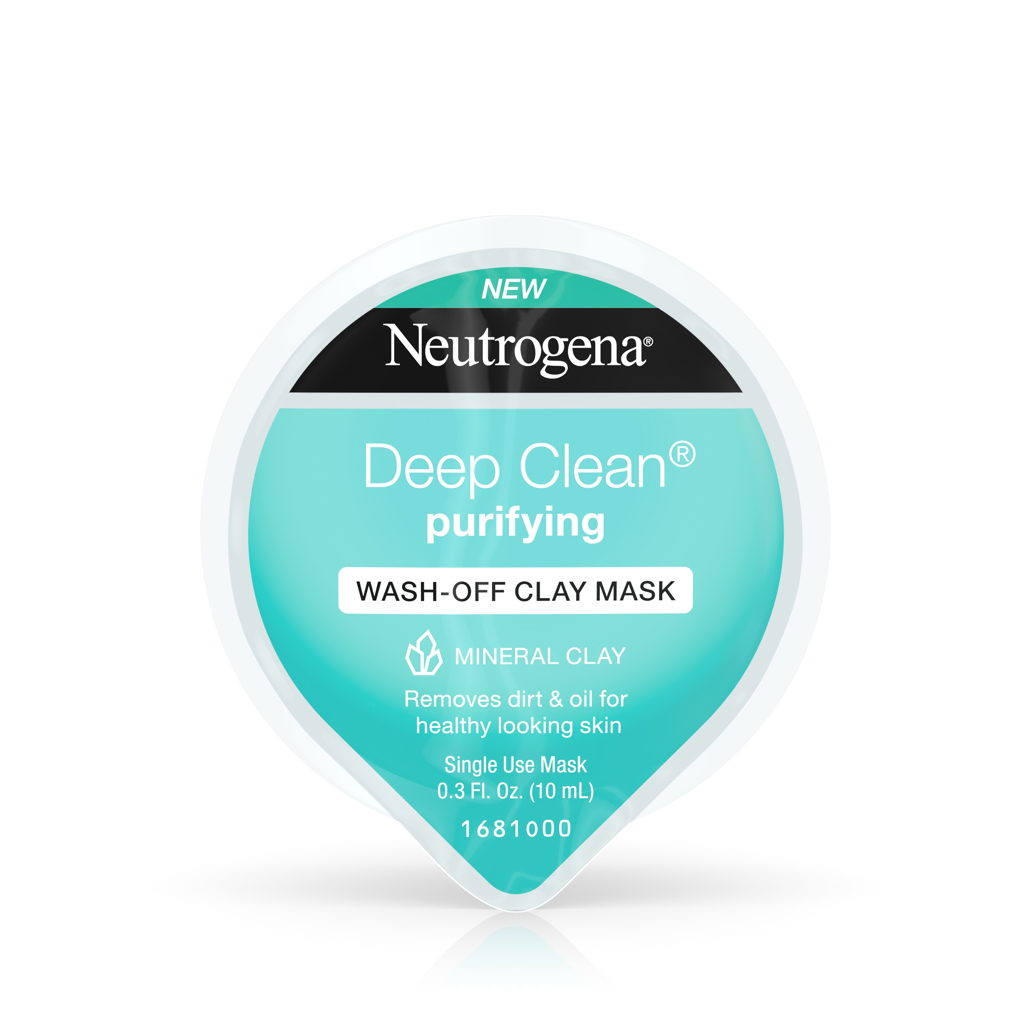 Neutrogena Deep Clean Purifying Wash-Off Clay Face Mask, 0.3 fl. oz