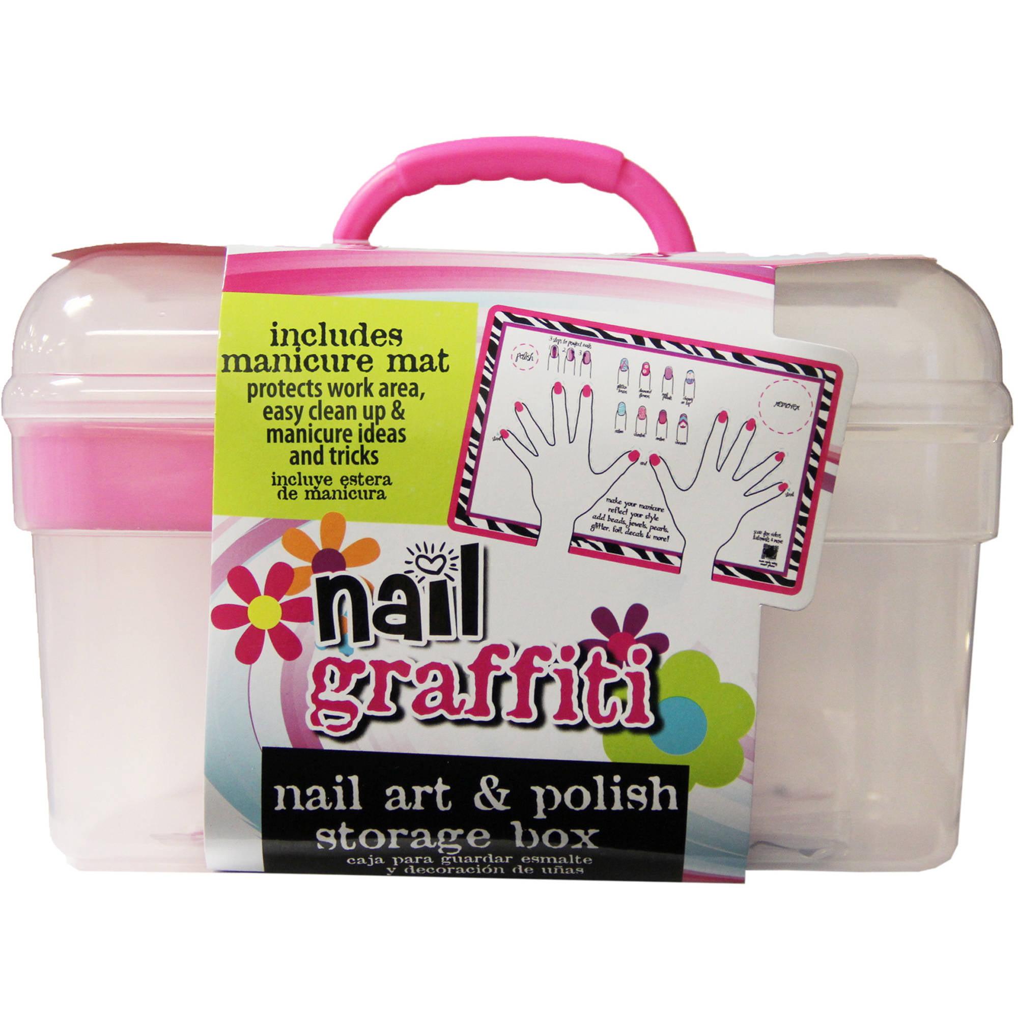 Nail Graffiti Nail Art & Polish Storage Box - Walmart.com