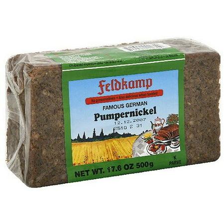 Feldkamp Pumpernickel Bread, 17 6 oz, (Pack of 12)