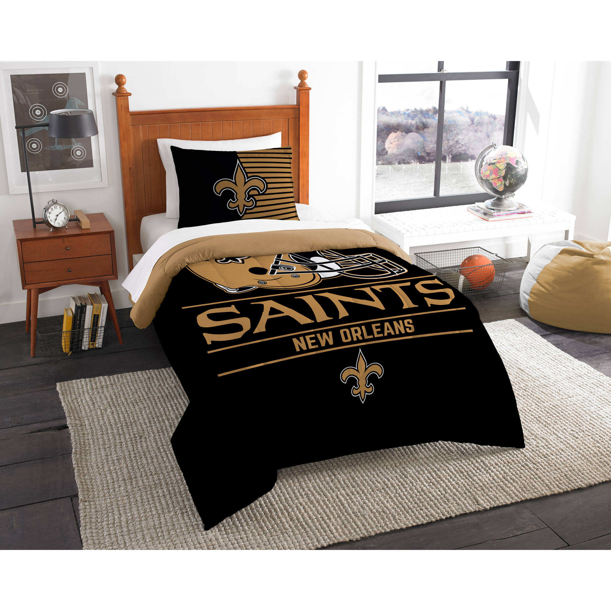 "NFL New Orleans Saints ""Draft"" Bedding Comforter Set"