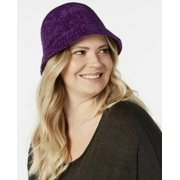August Hats Women's Chenille Cloche Hat, Purple, One Size