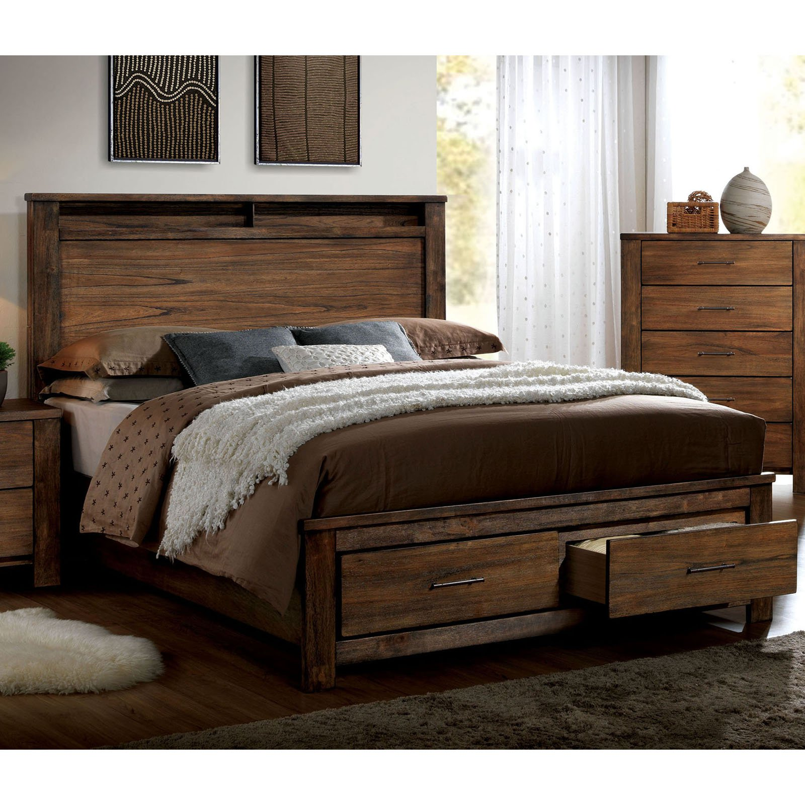 Furniture of America Orlando Storage Platform Bed