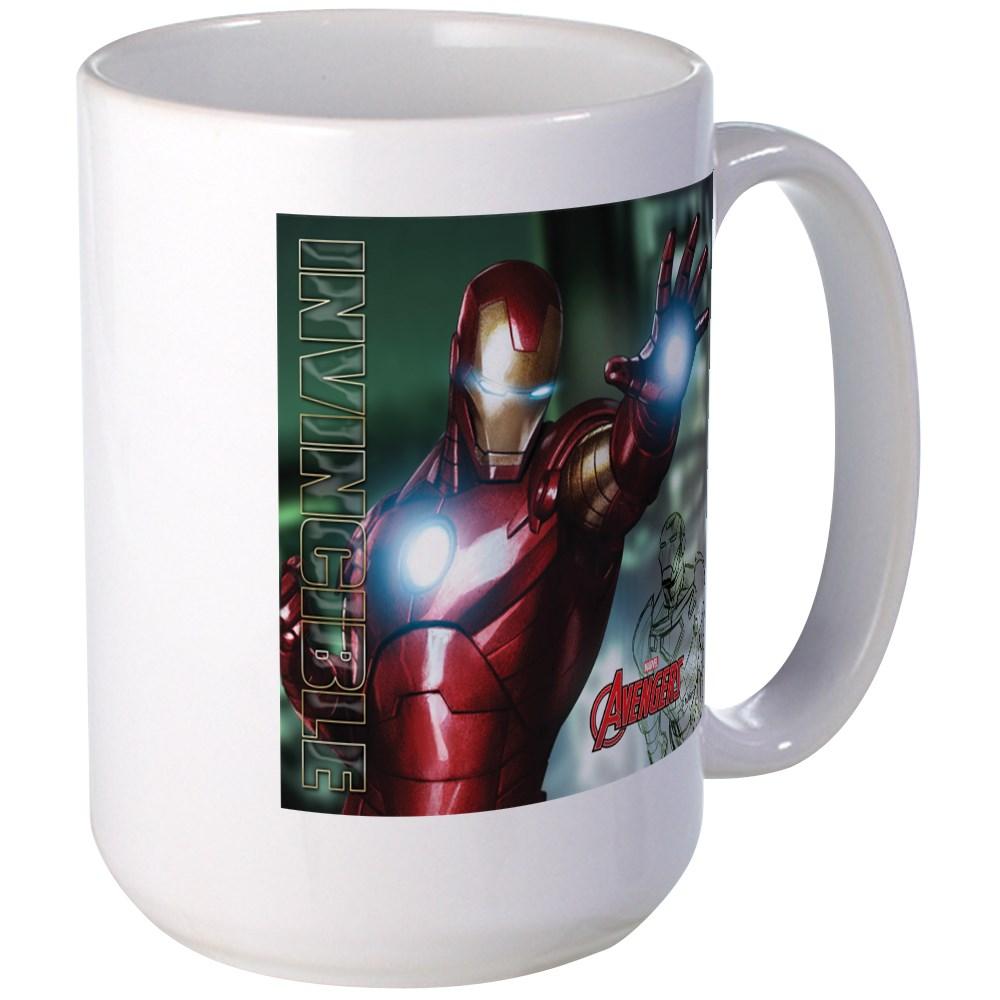 CafePress - Avengers Invincible Iron Man Large Mug - 15 oz Ceramic Large Mug