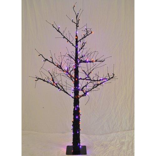 Christmas at Winterland  WL-DTR-4.5-LPU/OR  Trees  Small Christmas Trees  Holiday Decor  Small  ;Purple / Orange