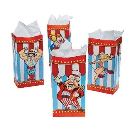 Ringling Brothers Circus 'Big Top' Paper Favor Bags (12ct) - Circus Theme Supplies
