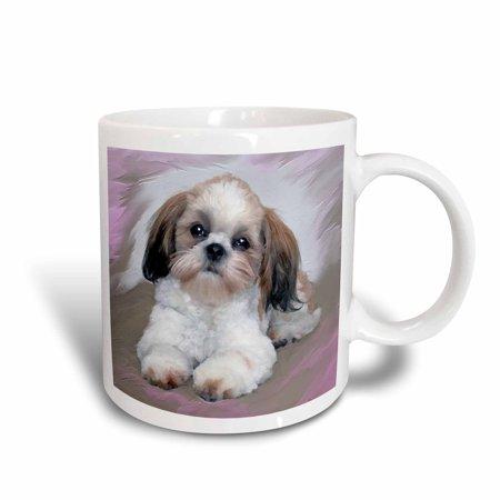 Shih Tzu Blanket (3dRose Shih Tzu puppy, Ceramic Mug, 15-ounce)
