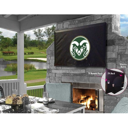 NCAA Outdoor TV Cover by Holland Bar Stool, 60'' x 37'' - Colorado State