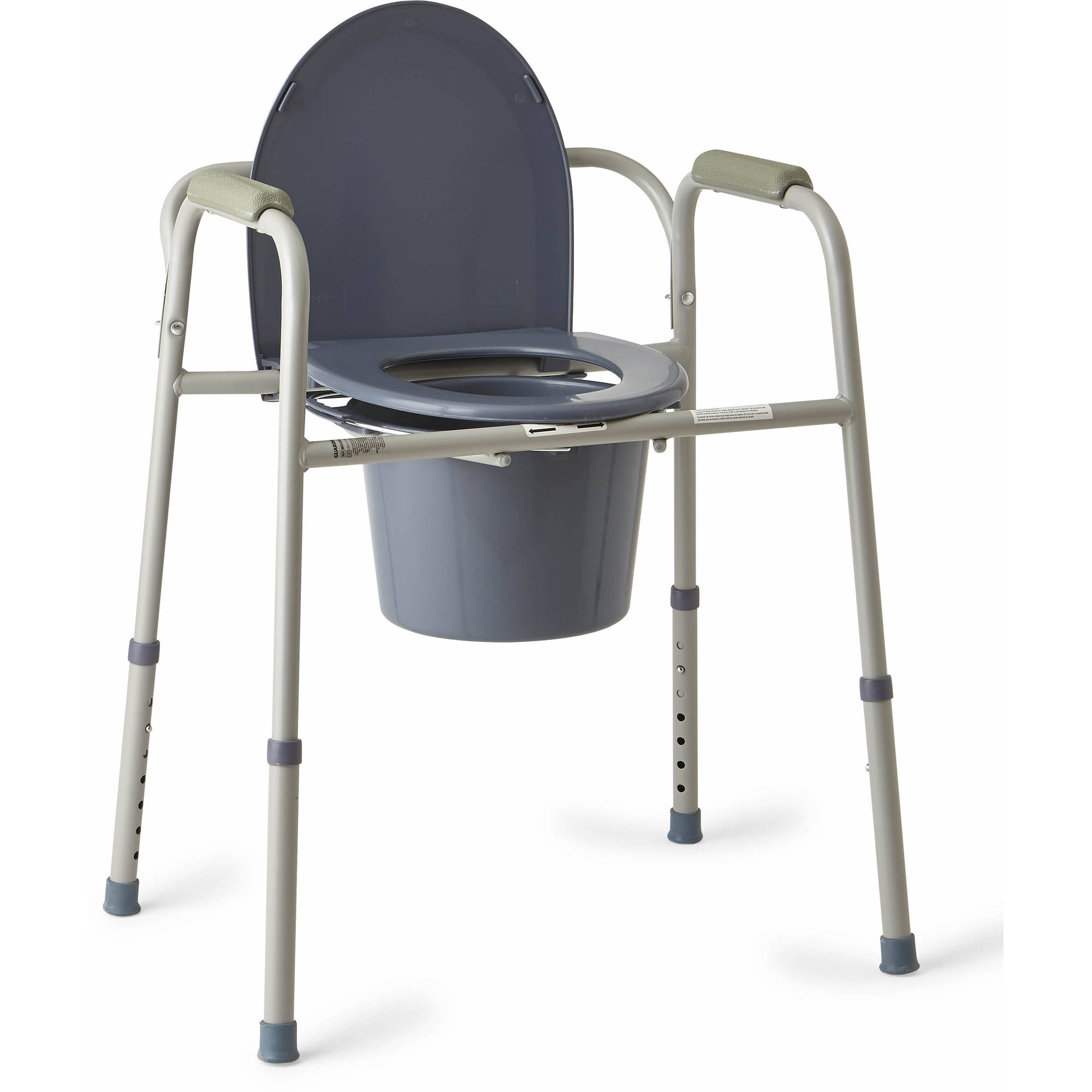Medline Steel 3-in-1 Bedside Toilet Commode - Walmart.com