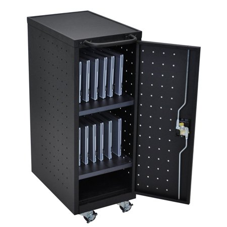 Luxor 12-Tablet/Chromebook Charging Cart with 12-Outlet 120V/15A Vertical Power Strip ()