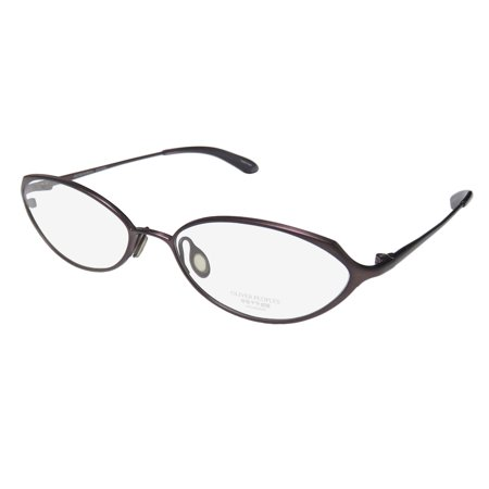 Silhouette Titanium Glasses (New Oliver Peoples Poise Womens/Ladies Designer Full-Rim Titanium Matte Purple Famous Designer Genuine Titanium Frame Demo Lenses 51-16-130 Eyeglasses/Eye Glasses )