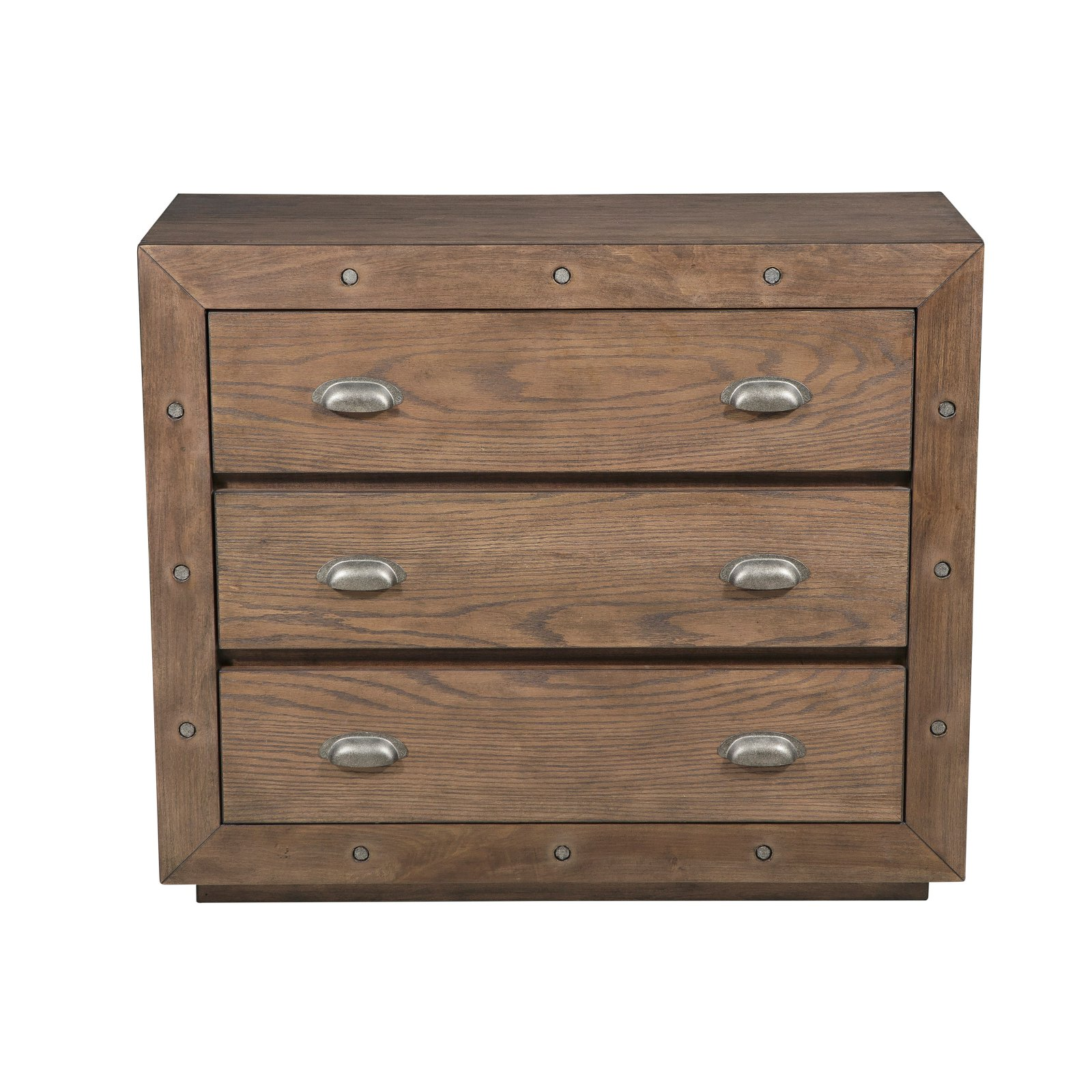 Farm House Style Accent Chest with Industrial Elements