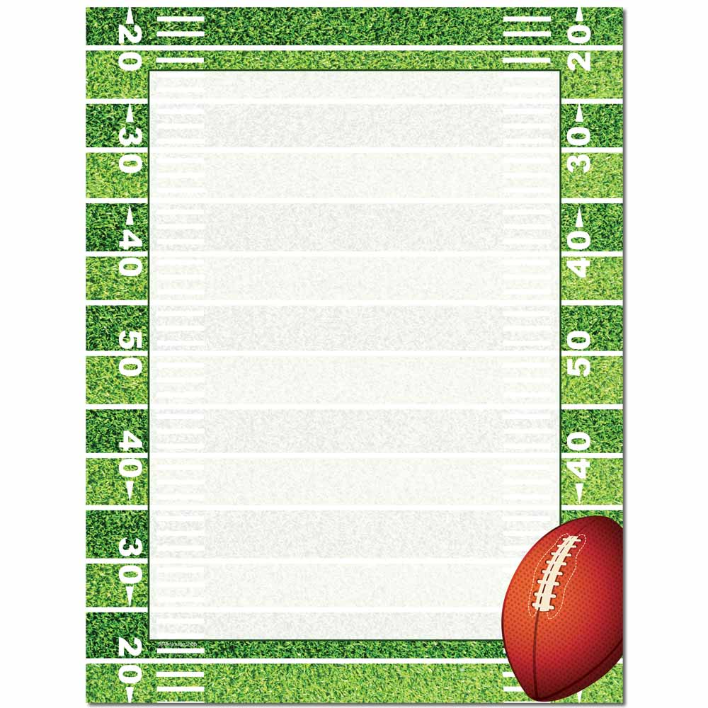 Football Field Letterhead Laser & Inkjet Printer Paper