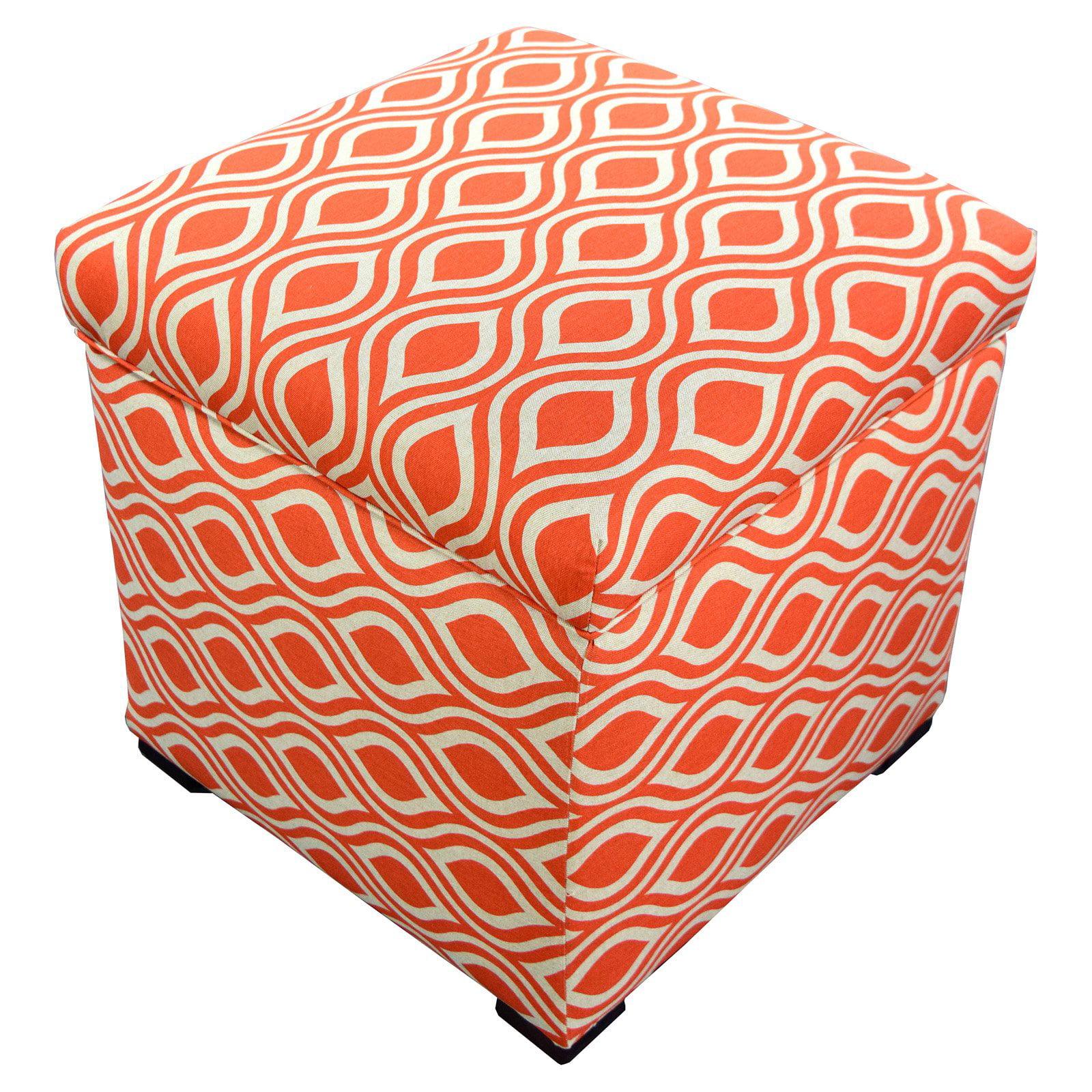 MJL Designs Tami Fabric Storage Ottoman
