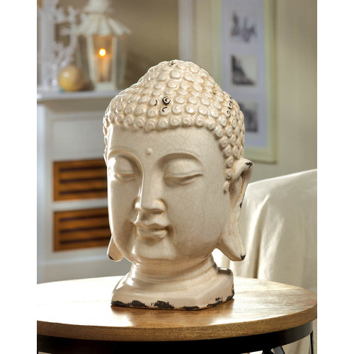 Zingz & Thingz Table Top Buddha Head Bust