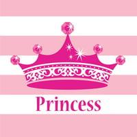 "Club Pack of 384 Pink Princess Royalty Premium 2-Ply Disposable Beverage Napkins 5"""