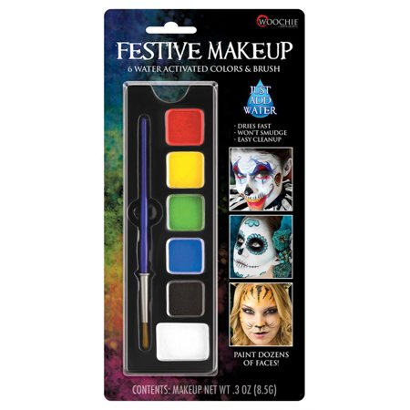 Festive Basic Color Water Activated Unisex Fantasy Costume Face Paint Palatte