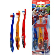 Marvel Avengers Superheroes Soft Bristle Manual Toothbrush Value Set - 3 Count, Kids Friendly Designed Grip, Perfect Gifts for Boys Girls