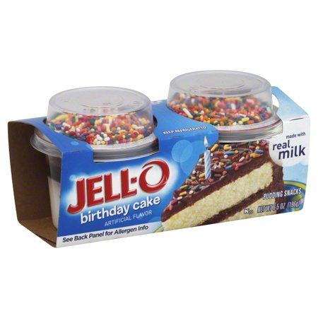 Jell-O Birthday Cake Pudding Snack, 2.75 Oz., 2 Count - Walmart.com