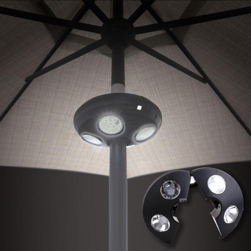 Okeba Patio Umbrella Cordless Camping Night Table LED White UFO Light  Outdoor Garden