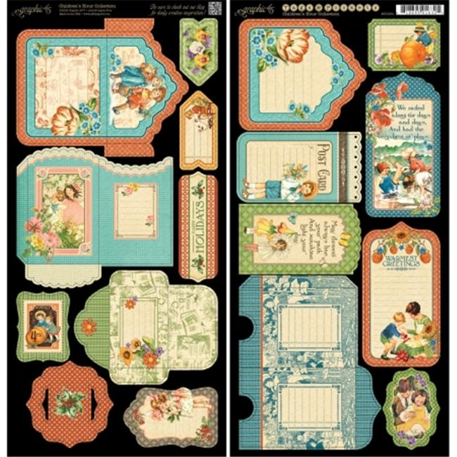 G4501254 Childrens Hour Cardstock Die-Cuts - 6 x 12 in. Sheets - Tags & Pockets