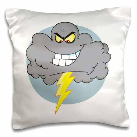 3dRose Angry Cartoon Black Grey Storm Cloud With Lightning ...