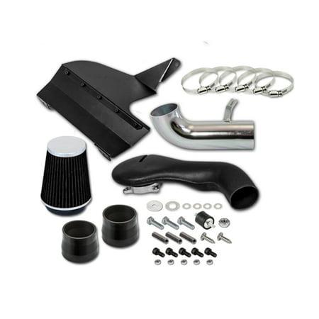 "RL Concepts 3.5"" Black Heat Shield Cold Air Intake System + Filter 96-04 Chevrolet S10 96-04 Blazer GMC Sonoma 4.3L V6"