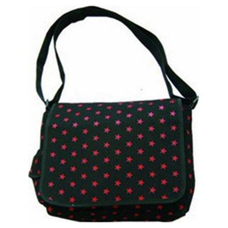 - Clover Black Messenger Bag - Red Star