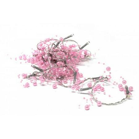 20 LED PINK BEADS STRING LIGHT - Pink String Lights