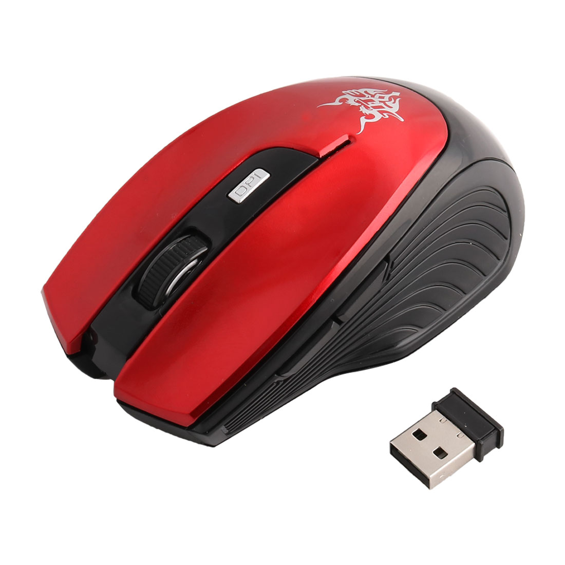 Notebook PC Wireless 6 Button Portable Mobile Mouse Optical Mice Red Black