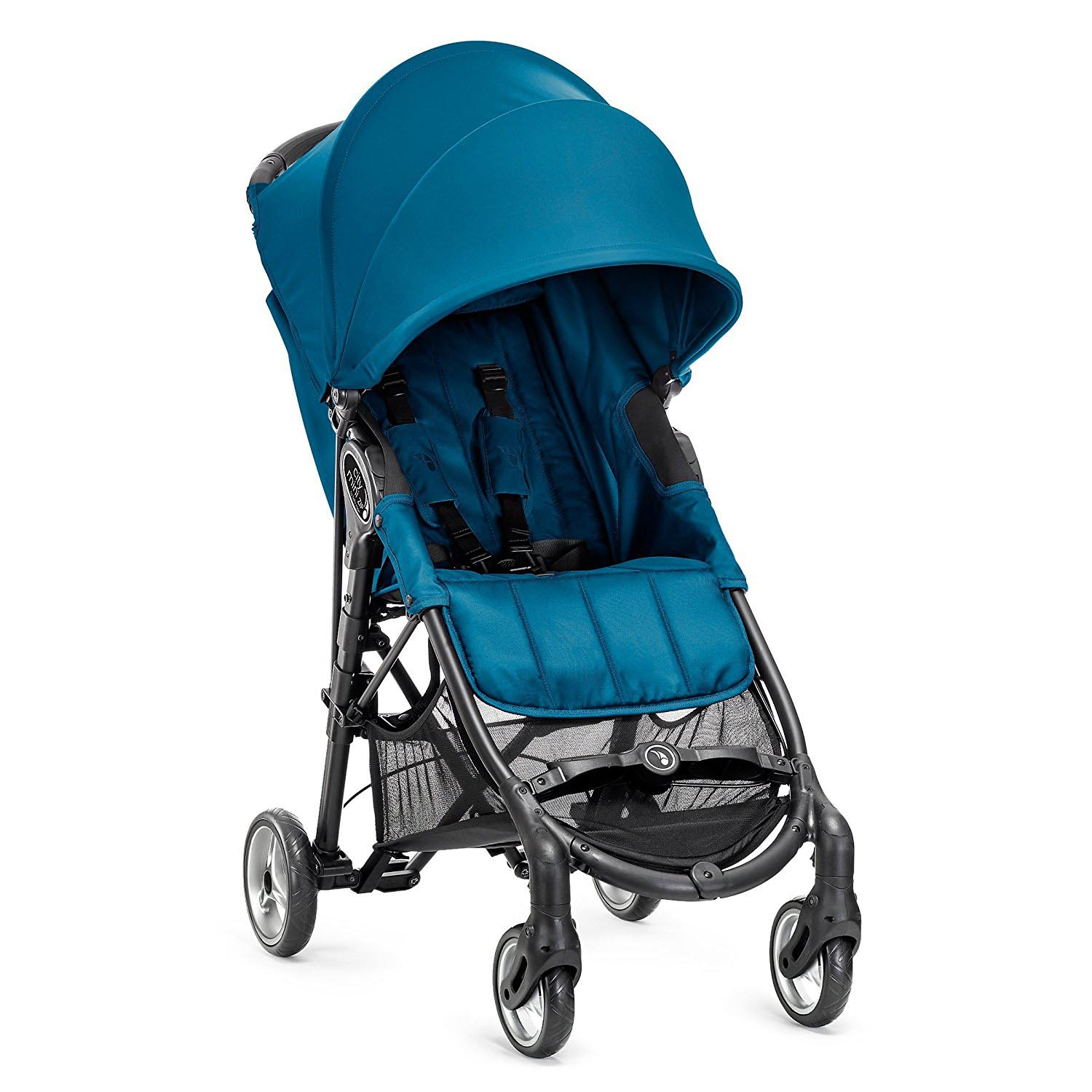 Baby Jogger City Mini Zip Compact 4 Wheel Foldable Lightweight Stroller, Teal by Baby Jogger
