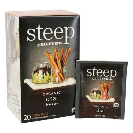 (3 Boxes) Bigelow Steep Organic Black Tea, Chai, 20 (Black Tea Organic Wine)