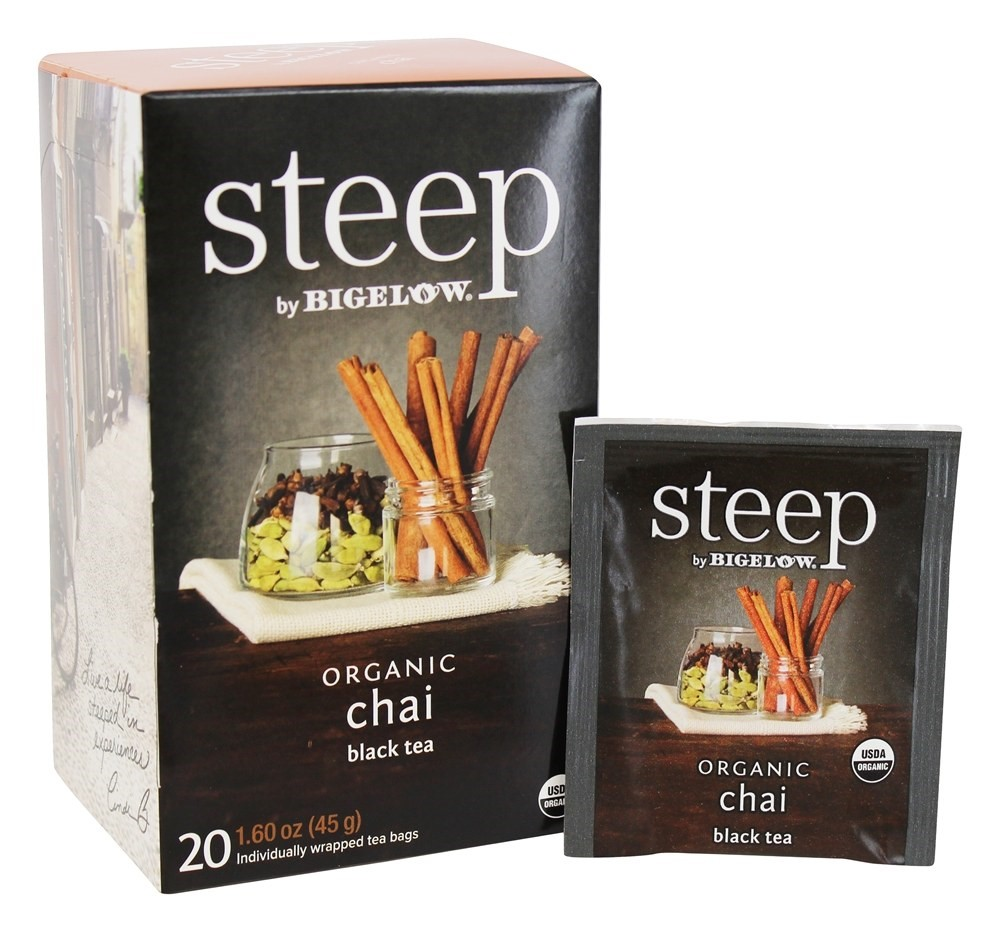 Bigelow Steep Organic Black Tea, Chai, 20 Ct