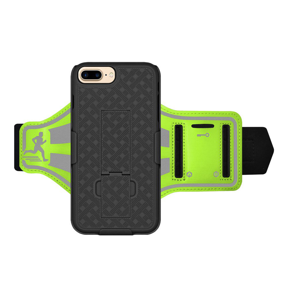 Amzer Sports Gym Running Jogging Armband Hard Case Cover Holder for Apple iPhone 8 Plus