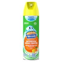 Scrubbing Bubbles Disinfectant Bathroom Grime Fighter Aerosol, Citrus, 20 Oz