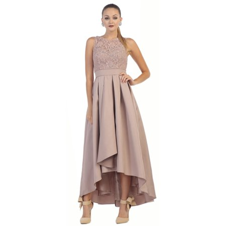 May Queen - SIMPLE FLOWY LONG PROM DRESS - Walmart.com