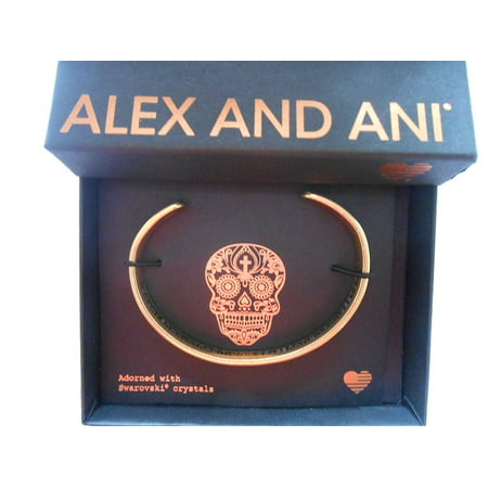Alex and Ani Calavera Cuff Rafaelian Gold Finish Bracelet With Box and Card